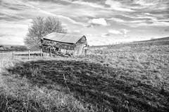 The Farmhouse (jamesromanl17) Tags: landscape landscapes farm farming farmland cheshire england britain uk countryside rural contrast shadows shadow sun sunlight light sky skies clouds cloud cloudscape cloudy field fields nature blackandwhite bampw farmhouse ruralscene
