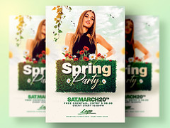 Spring Flyer Template PSD (Creativeflyers) Tags: psdflyer photoshop spring flyer party template psd springbreak easter