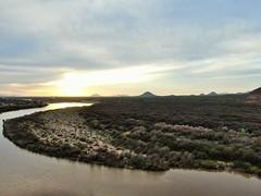 Sunset on the desert (rodeochiangmai) Tags: arizona river