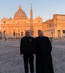 Seminarians Joe Petrone and John Hepinger enjoyed their pilgrimage to Rome as part of their St. Vincent Seminary curriculum, March 2019.