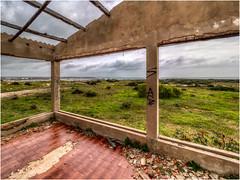 Like a room with a nice view (Luc V. de Zeeuw) Tags: atalaia cloudy graffiti house pontadaatalaia rock ruin sagres algarve portugal