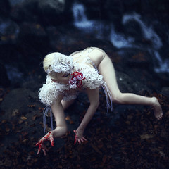 Zoantharia II (StephaniePearl ☪) Tags: dark macabre creepy fantasy latex blood creature portrait fineart ethereal