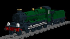 Manor Class WIP 1 (technoandrew) Tags: lego wip project loco locomotive engine steam great western railway gwr manor 7800 460 british green train model