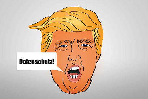 Datenschutz-als-Trump-Donald-Karikatur