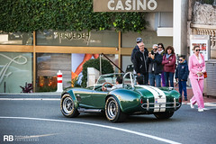 Shelby AC Cobra 427 Continuation (Raphaël Belly Photography) Tags: rb raphaël monaco principality principauté mc montecarlo monte 98000 carlo hotel de paris french riviera south france luxury supercar supercars spotting car cars voiture automobile raphael belly canon eos photographie photography casino shelby ac cobra 427 continuation vert green verte verde white blanc blanche bianca bianco crème cream beige