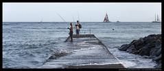 _MG_7242c (Steven Encarnación) Tags: steven encarnacion photographer canon 6d takumar 100mm f28 hawaii oahu availablelight beach sea ocean human people fishermen sailboat pier