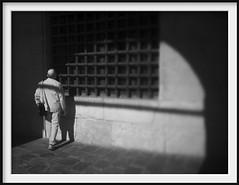 planned escape (Andrew C Wallace) Tags: prison palazzodelleprigioni venice venezia italy infrared blackandwhite bw microfourthirds m43 olympusomdem5mk2 thephotontrap tiltshift shadows gaol jail tourist