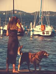 Am Wasser - Frauchen & Hund - 2. Juli 2006 (torstenbehrens) Tags: am wasser frauchen hund 2 juli 2006 nikon e8700