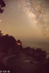 McWay Falls (Long Exposure Art (L~EX~A)) Tags: milkyway waterfall california travel longexposure ocean beach californiastatepark bigsur mcwayfalls astrophotography stars nikon tamron