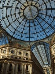 PA079874 (bartlebooth) Tags: italy italia europe europa olympus e620 lombardy lombardia galleriavittorioemanueleii galleria architecture glass vaulting milan milano