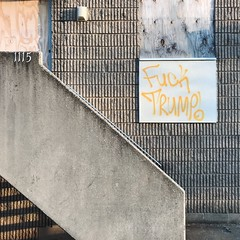 trumptique (mennyj) Tags: washington dc condemned trump fucktrump graffiti tag yep agreed mobile iphone iphone7 sursum corda apartment complex