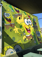 SpongeBob SquarePants by Jerkface (wiredforlego) Tags: graffiti mural streetart urbanart aerosolart publicart williamsburg brooklyn newyork nyc ny jerkface