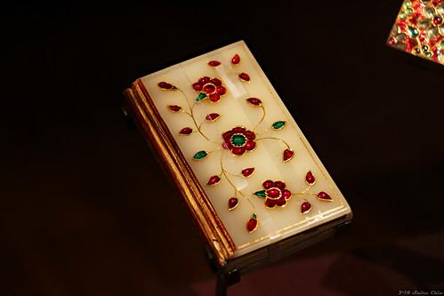 Gold, jade, rubies and emeralds miniature Koran manuscript
