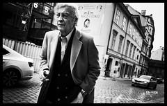 Thinking down the street - Prague (davide978) Tags: davide978 davide colli davidecolli canon italy praga prag prague street streetphotography strada man cicarette smoke composition black blackandwhite bw bianco 2018 canonef50mmf14usm 5d ff abito style 8w9a8893modifica 8w9a8893 35