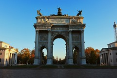 Arco della Pace (karenmansoldo) Tags: milan italy arcodellapace architecture autumn travel history