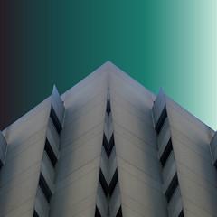 hotel tweak (msdonnalee) Tags: digitalart hotel abstractarchitecture digitalfx building balcony artdigital