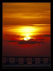 Sunset & Severn (juliemarie.stollery) Tags: bridge severnbridge severn sun sunset sky estuary wales