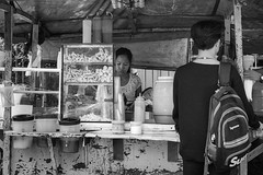 Street Food (Beegee49) Tags: street food store stall filipina serving happy planet luminar sony a6000 blackandwhite monochrome bw silay city philippines asia