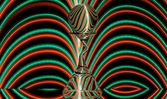 Light Patterns (Karen_Chappell) Tags: lights light red green black glass orb sphere round ball circle pattern curve arc curves led lightpainting abstract refraction reflection reflections color colourful colours colour longexposure stilllife shapes shape