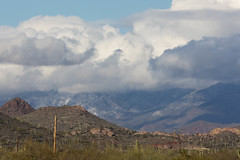 Snow in the mountains (raptoralex) Tags: superstitionmountains apachejunction arizona mountains snow canon canon60d 70200f28 70200