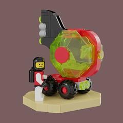 M-Tron Fish: Febrovery 2019 (David Roberts 01341) Tags: lego ldd mecabricks mtron space scifi buggy rover car