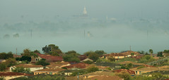 Foggy Morning! (rambokemp) Tags: landscape cloudy cloud 19thavenue trailhead southmountain arizona phoenix heritageacademy foggy fog foggymorning