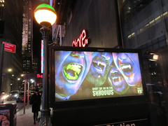 What We Do in the Shadows Billboard Poster Ad 2705 (Brechtbug) Tags: what we do shadows billboard poster ad over subway entrance american comedy horror television series fx march 27th 2019 channel starring kayvan novak matt berry natasia demetriou harvey guillen based 2014 film by jemaine clement taika waititi about three vampires who have been roommates for hundreds years ads advertisement tv show