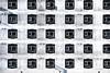 30 Windows (Mike Legend) Tags: kent folkestone hotel windows shadows grid array black white hexagon hexagons