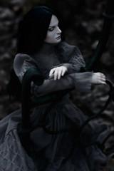 Cora (dolls of milena) Tags: bjd resin doll dark portrait outdoor natalie whispering grass