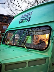 Mobile coffee at King's Cross (35mmMan) Tags: kingscross kings cross station london colours green van citroenhvan citroen h coffee mobile urban angles lines