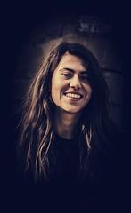 Spanish Smile (E-C-K ART) Tags: smile black spain spanish espana barcelona portriait gold hair model sexy seducing woman girl latina ania