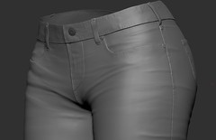 First Jeans for Sansar - WIP (Aloe [Alli Keys]) Tags: sculpt jeans 3d modeling zbrush sansar virtual fashion clothing second life denim wrinkles cloth