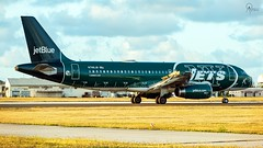 JetBlue | N746JB | Airbus A320-232 | BGI (Terris Scott Photography) Tags: aircraft airplane aviation plane spotting nikon d750 travel barbados jet jetliner jetblue airbus a320 tamron 70200mm f28 di vc usd g2 special livery ny jets
