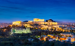 _MG_9365 - Athenian Acropolis Colorful (AlexDROP) Tags: 2017 europe greece athens greek acropolis travel color building city urban architecture temple history bluehour canon6d ef241054lis best iconic famous mustsee picturesque postcard river longexposure sky skyline
