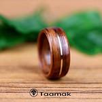 Alliance de mariage en bois de violette et fil d'or (Taamak) thumbnail