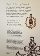 Museum Placard: History of 17th and 18th Century Jewelry (Suni Lynn Lee) Tags: ulster museum belfast art history jewelry