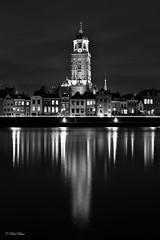 Deventer City Skyline by Night (paulbunt60) Tags: blackandwhite deventer kerk skyline church lebuinus nachtfotografie nightphotography reflections spiegeling