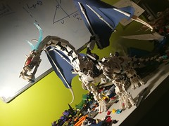 in maintenance -ice dragon (vicent steffens (gerou 100)) Tags: lego bionicle custom moc ice dragon wings figure creature