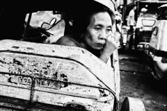 Old Paint (Meljoe San Diego) Tags: meljoesandiego fuji fujifilm x100f streetphotography tricycle woman candid monochrome philippines