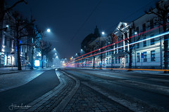 Night Owl part 2 (Fredrik Lindedal) Tags: streetview street streetlight streetvision lights lightsinmotion nikon night nightshot nightlights nightphoto nightfall nighshoot gothenburg göteborg sweden sverige lindedal