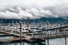 Seward Marina (Candy McDonald) Tags: alaska seward clouds mood mountains water landscapephotography landscapes waterscapes nikon nikonphotography photoshop nikcollection fineartphotography marina boats