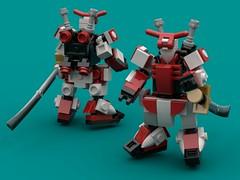Destrier Rouge Revamp (The Hydromancer) Tags: mech suit zero frame mobile mfz scifi micro space katana sword seed gundam lego astray red