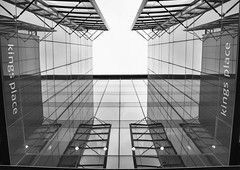 All squared up (Joseph Pearson Images) Tags: building architecture abstract london dixonjones lookingup reflections blackandwhite bw mono kingsplace