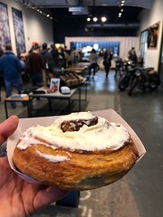 48/365 (moke076) Tags: 2019 365 project 365project project365 oneaday photoaday mobile cell cellphone iphone cinnamon roll bun sweet pastry breakfast brothermoto restaurant cream cheese frosting delicious hand self selfie me portrait person people line standing group cabbagetown coffee