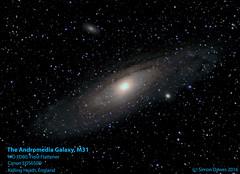 M31_2010-09-12_Kelling heathV5labeledbetter colour balance (simon.dawes) Tags: astronomy deepsky m31 m32 messier