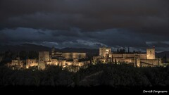 The Alhambra; Granada (Daveoffshore) Tags: alhambra granada spain historical palace night clouds fortification