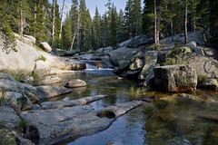 Lyell Fork Hike - Yosemite (brucetopher) Tags: water tuolumne river lyellfork flow flowing stream mountain rocky alpine hike hiking swim swimming waterhole wateringhole yosemite yosemitenationalpark meadows lodge west sierranevada sierra nevada sierranevadas mountains range california