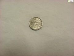 TM_IKD 153 - 25 öre, 1982 (Tidaholms Museum) Tags: mynt coin penning bankväsen bank items objects föremål 1982 1980talet silver rund