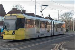 Metrolink 3074 (Mike McNiven) Tags: manchester metrolink tram metro lightrail hollyhedgeroad wythenshawe benchill baguley manchesterairport airport victoria marketstreet
