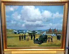 Painting commemorating the first air service to Orkney (Will S.) Tags: mypics art painting airplanes flight service airservice airways kirkwall airport orkney scotland unitedkingdom
